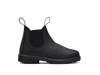 Side View Blundstone 631 Kids Black full grain leather elastic side boots with comfort foot bed (631)