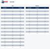 Steel Blue Size Chart Men's and Women's