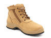 Blundstone 418 Non Safety Lace Up Zip Sided Work Boots in Wheat