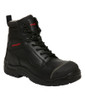 KingGee Phoenix 6CZ EH 6 Inch Leather Zip Sided Safety Work Boots Black (K27985)
