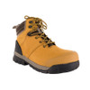 Angle View BOGS Pillar Men's Waterproof Composite Safety Toe Zip Sided Work Boots in Camel (9000058-220)