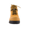 Front View BOGS Pillar Men's Waterproof Composite Safety Toe Zip Sided Work Boots in Camel (9000058-220)