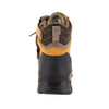 Rear View BOGS Pillar Men's Waterproof Composite Safety Toe Zip Sided Work Boots in Camel (9000058-220)