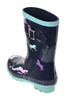 Rear View Thomas Cook Kids Pony Rubber Gumboots (TOW78056)