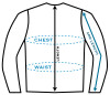 Johnny Reb Jacket Measuring Diagram