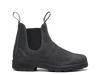Side View Blundstone 1910 Premium Waxed Steel Grey Suede Leather Boots (1910)