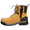 Open Zip View BOGS Pillar 8 Men's Waterproof Composite Safety Toe Zip Sided Work Boots in Camel (978763 – 220)