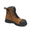 Blundstone 983 Lace Up Zip Sided Steel Cap Safety Boot in Crazy Horse Leather (983)