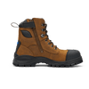 Zip View Blundstone 983 Lace Up Zip Sided Steel Cap Safety Boot in Crazy Horse Leather (983)