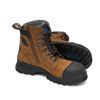 Pair Blundstone 983 Lace Up Zip Sided Steel Cap Safety Boot in Crazy Horse Leather (983)
