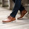 Pair Florsheim Supacush Plain Toe Chukka Boot in Rich Tan Leather (161149-271)
