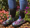 Wearing Otway Stroller Mid Insulated Ladies Waterproof Gumboots in Rainbow (OW0150)