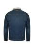 Rear View Wrangler Mens Bowen Denim Jacket with Sherpa Lining (X1W1775623)