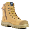 Bata Defender Zip Wheat Lace Up Zip Sided Steel Toe Safety Boots (804-80851)