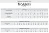 Froggers Size Chart