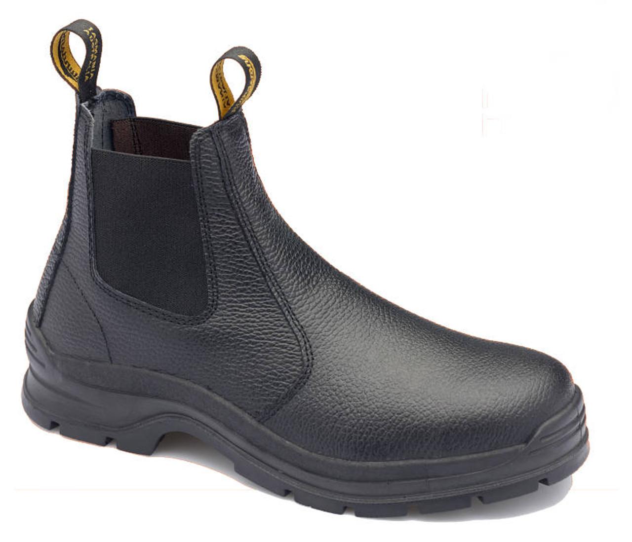 21d523346f7 Blundstone 310 Black Rambler print leather elastic side Steel Cap safety  boots