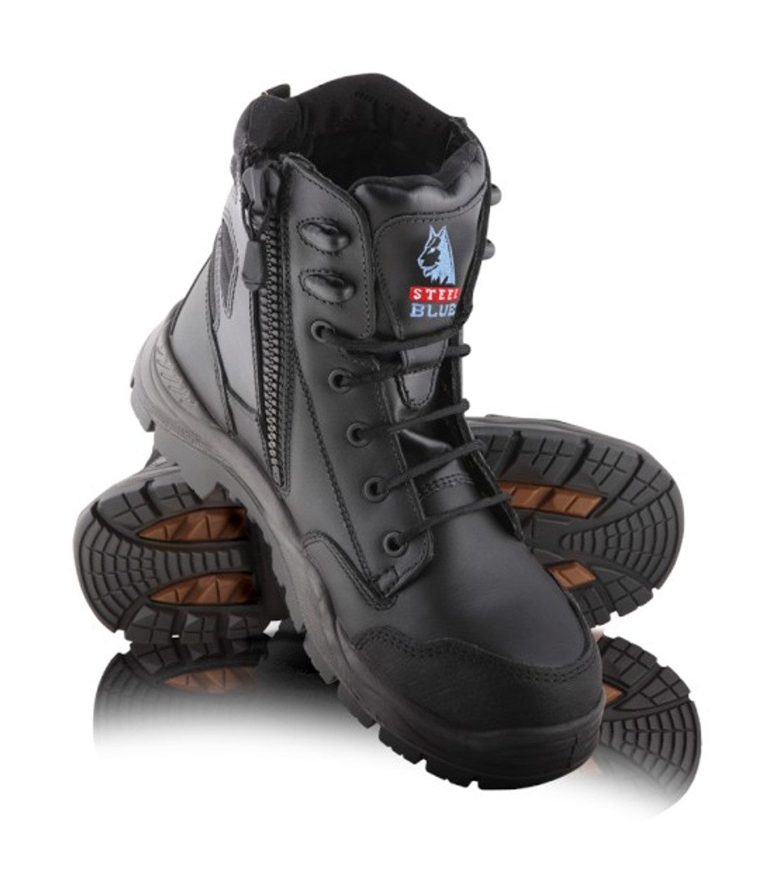 464a4ce309e Steel Blue - Torquay Lace-Up Boot with Airport Friendly Toe Cap