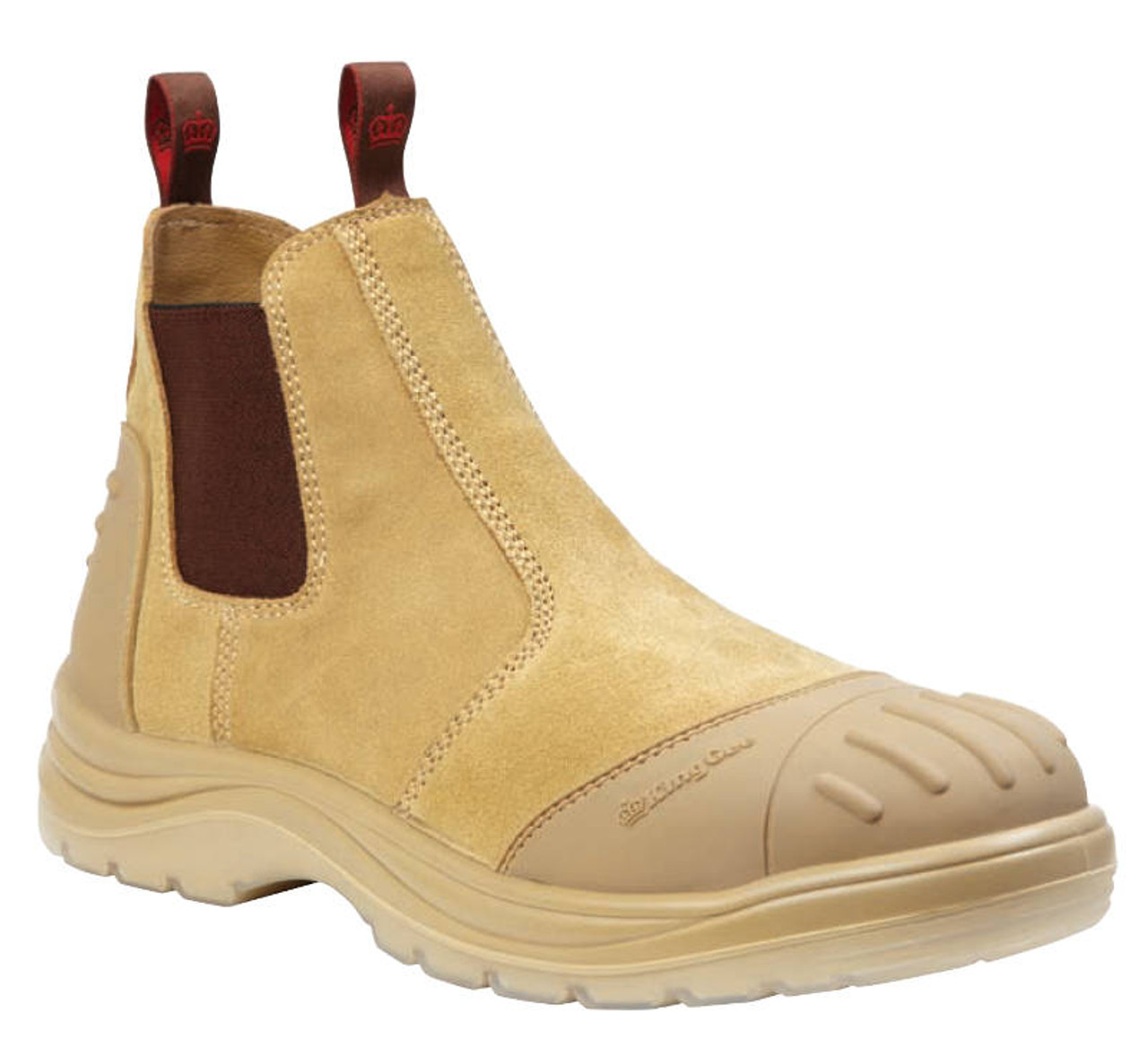 743ba8d7616 KingGee Wills Suede Leather Safety Work Boots - Sand - Koolstuff ...
