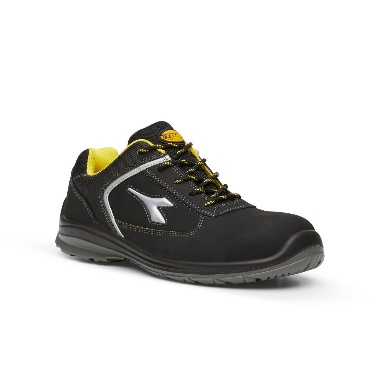 39653dac Diadora Utility Bassano Low Black and Yellow Safety Shoes with Toe Cap