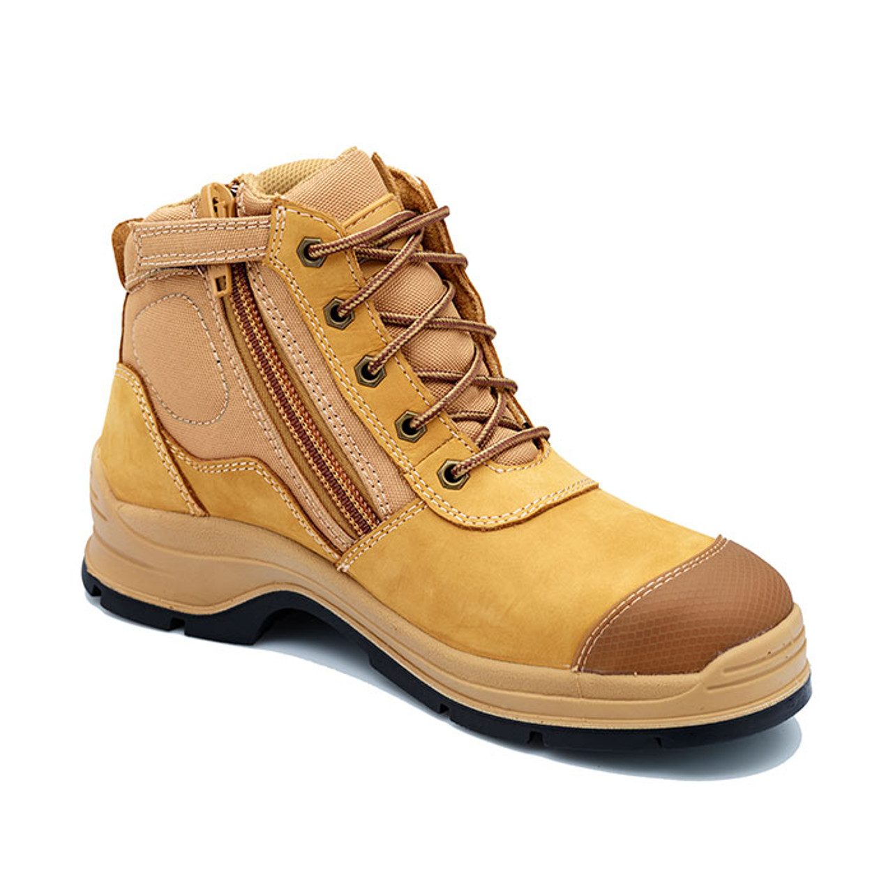 7a9795dddeb Blundstone 318 Steel Cap Hiking Style Work Boots in Wheat Nubuk ...