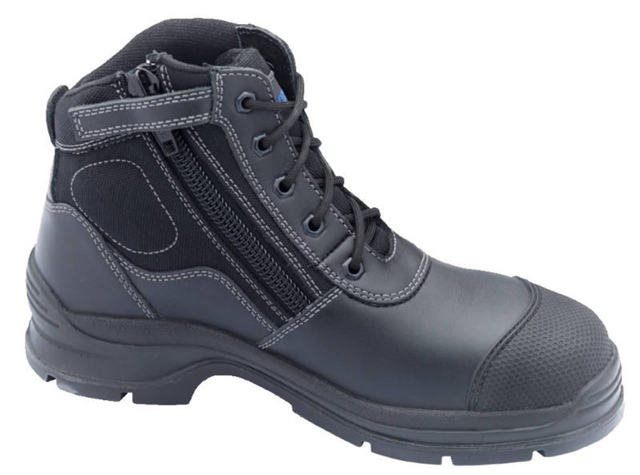 b153a515e47 Blundstone 319 Steel Cap Zip Sided Hiking Style Work Boots in Black ...