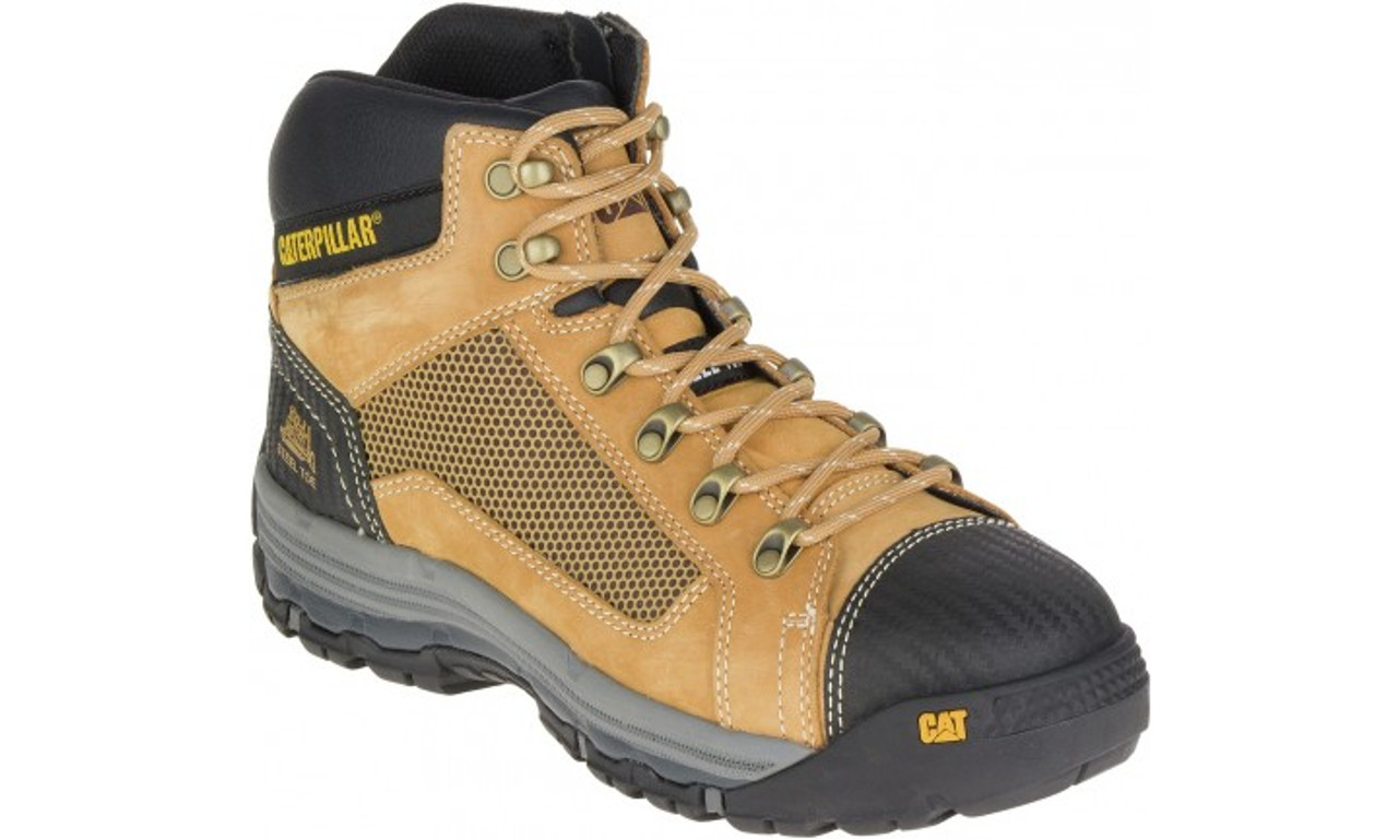 Cat Boots Convex St Steel Toe Zip Sided Mid Height Safety Boots