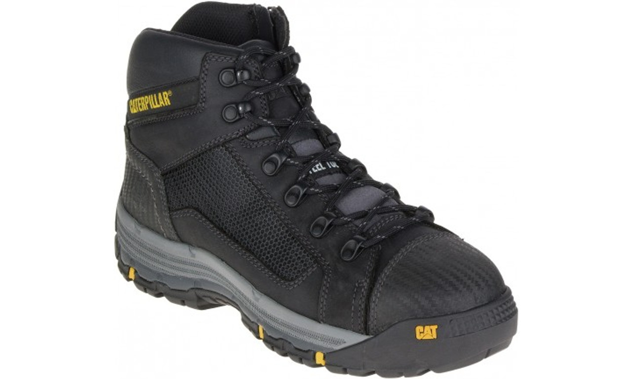 e382730eba3 Cat Boots Convex ST Steel Toe Zip Sided Mid Height Safety Boots ...