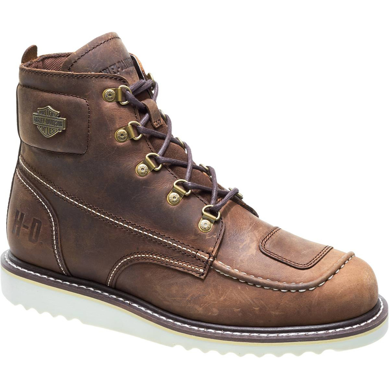 2c003f4eb18 Harley Davidson Hagerman Zip Sided Full Grain Leather Boots in Brown ...