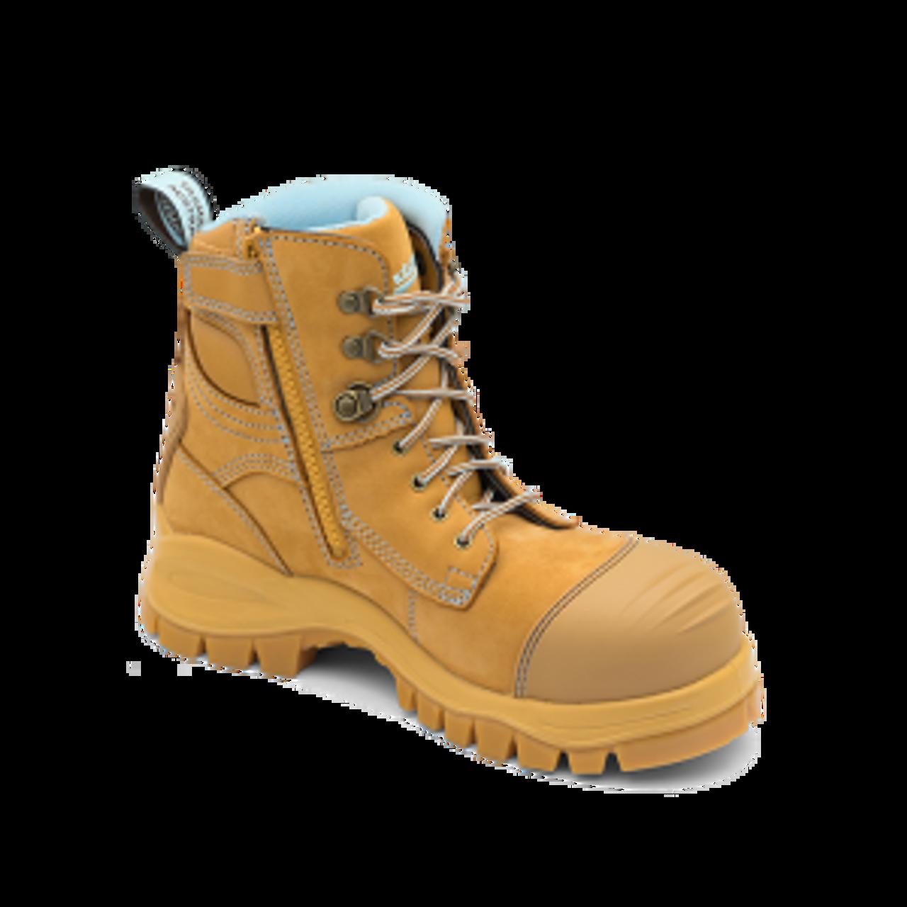Zip Sided Steel Toe Work Boots