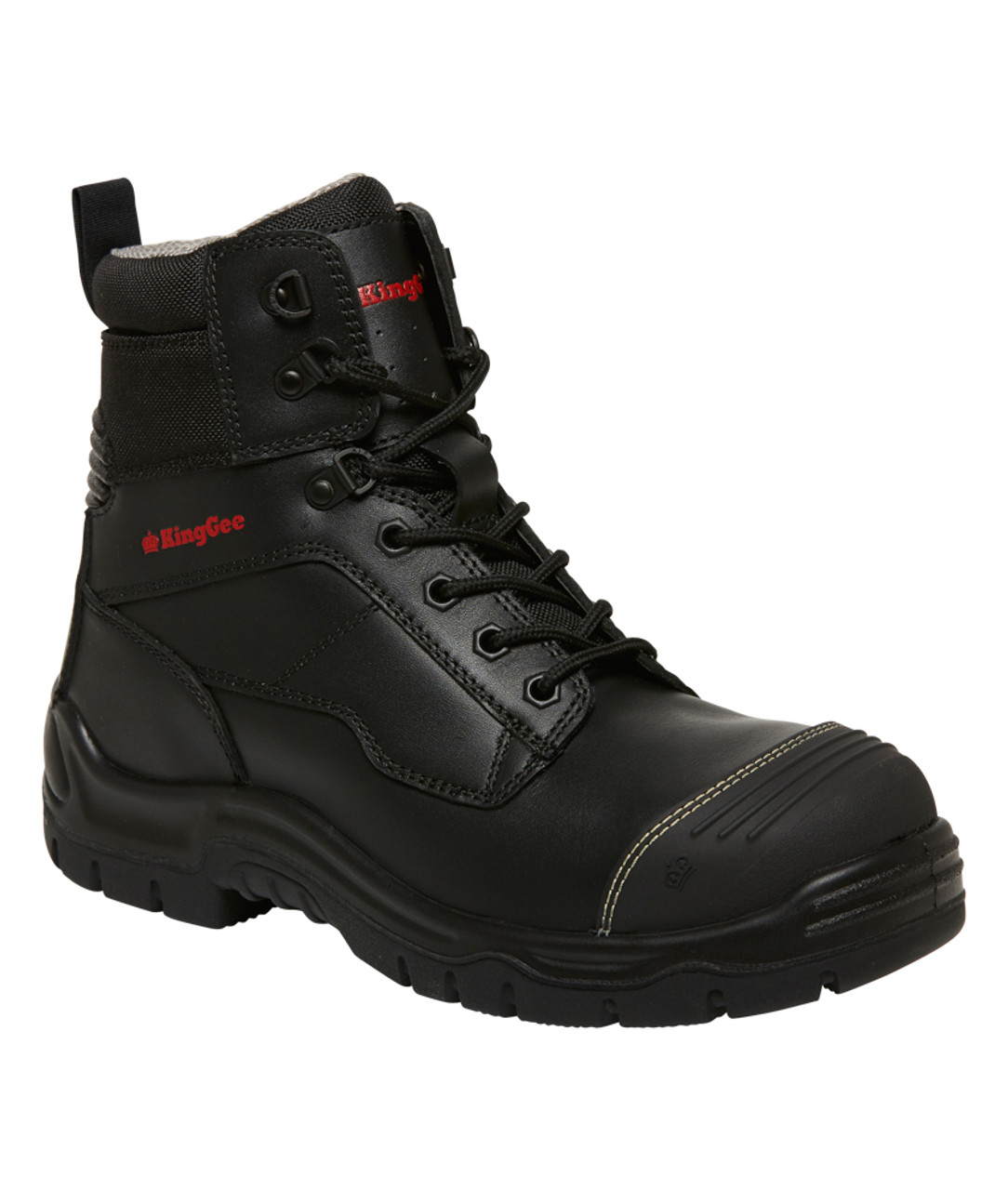 2276d7d8a10 KingGee Phoenix 6CZ EH 6 Inch Leather Zip Sided Safety Work Boots ...