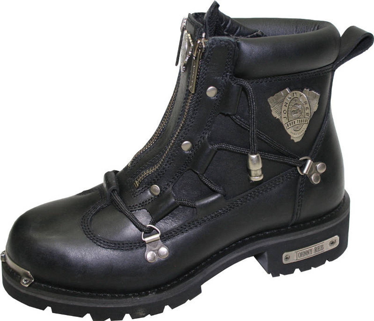 1e9b3d3609e Johnny Reb Rampage Zip Up Motorcycle Boot