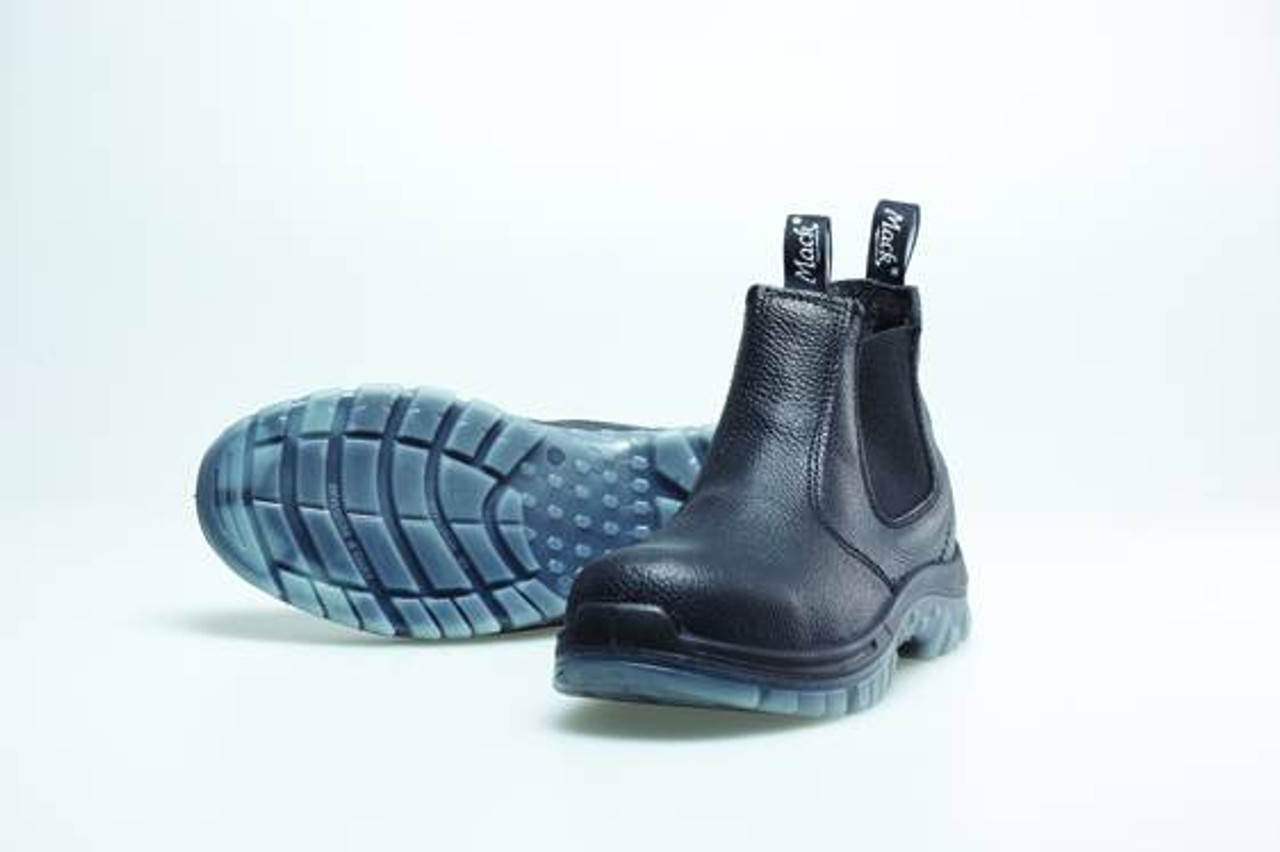 96325cc900f Mack Boots - Tradie, Elastic Sided Steel Toe Safety Boot, Black