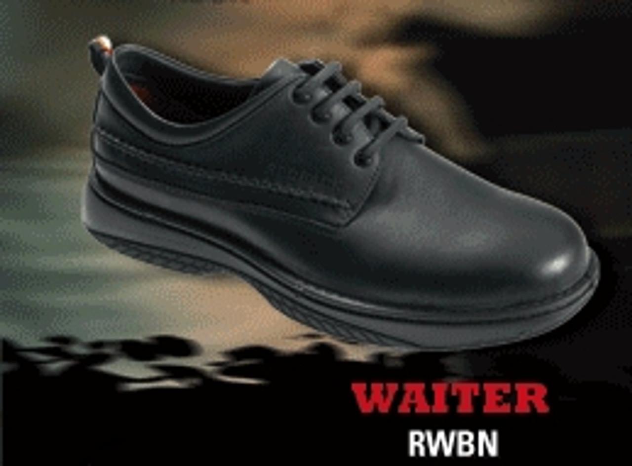 ef919211e79 Redback Waiter, Lace up black nappa Waiter shoe