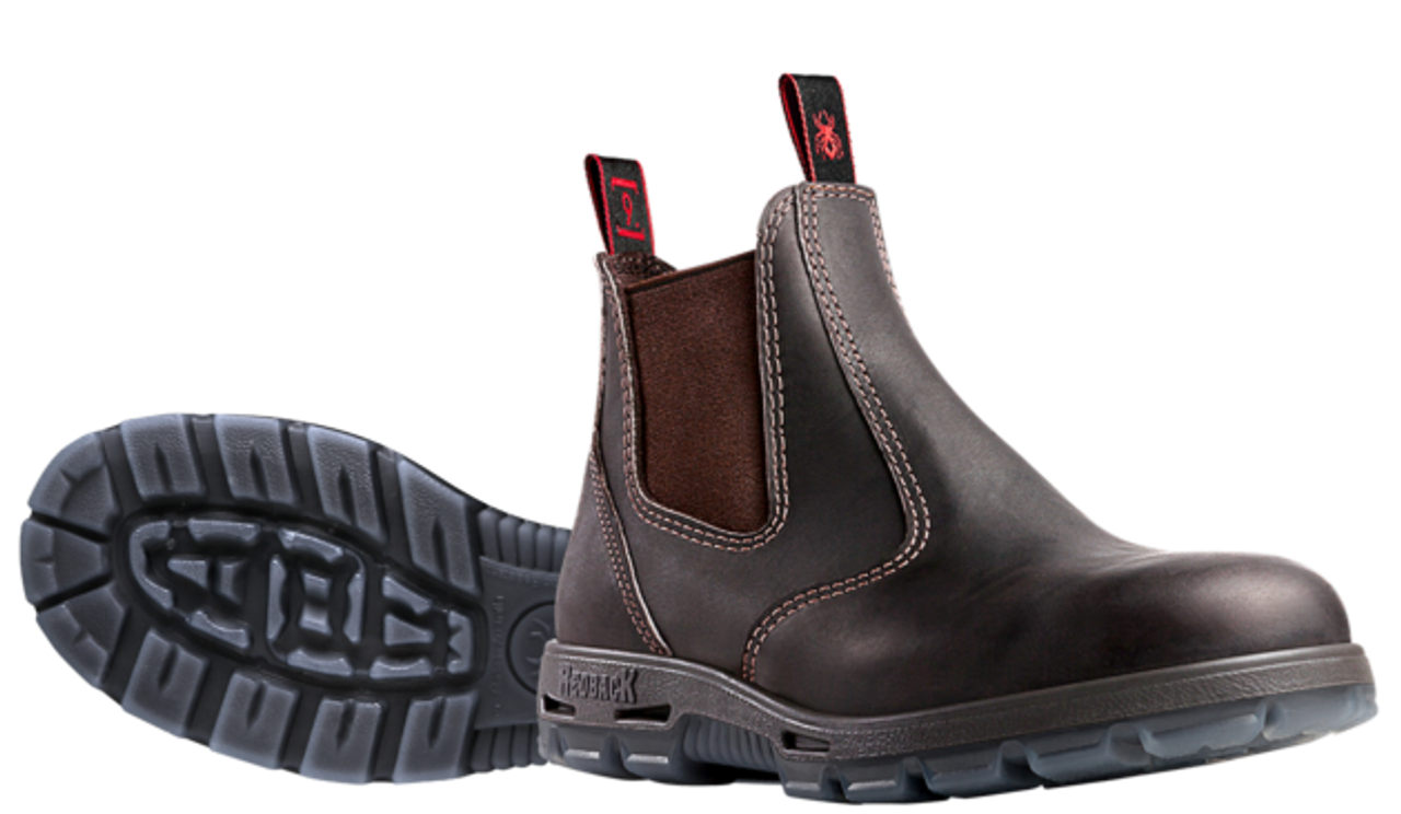 db2e2915816 Redback Safety Bobcat, Elastic Sided Claret Oil Kip Work Boot ...
