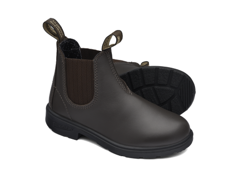Blundstone 630 Kids Brown premium leather elastic sided cotton lined boots (630)