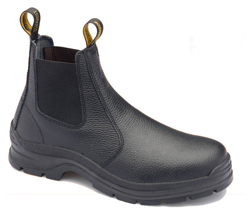 Blundstone 310 Black Rambler print leather elastic side Steel Cap safety boots