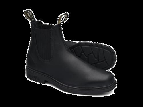 Blundstone 663 Black full grain leather elastic side Dress Boot (663)