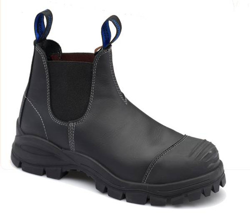Blundstone 990 Black Platinum Quality Leather Elastic Sided Steel Cap Safety Boot