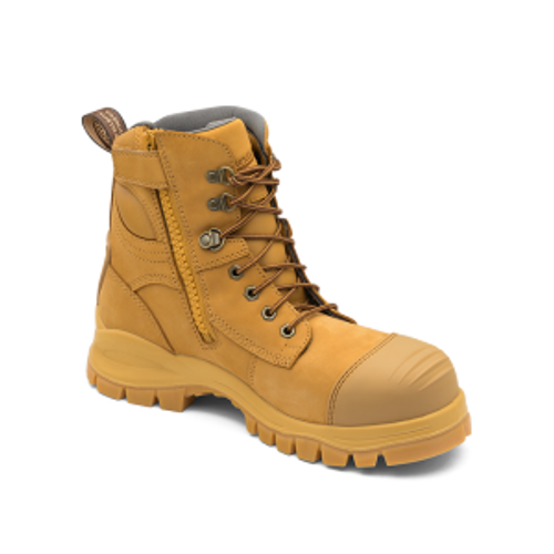Blundstone 992 Wheat Premium Nubuck Lace Up Steel Cap Safety Boot (Blundstone 992)