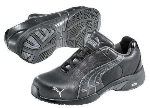 Puma Velocity Safety Shoes 642857 with Steel Toe Cap Black