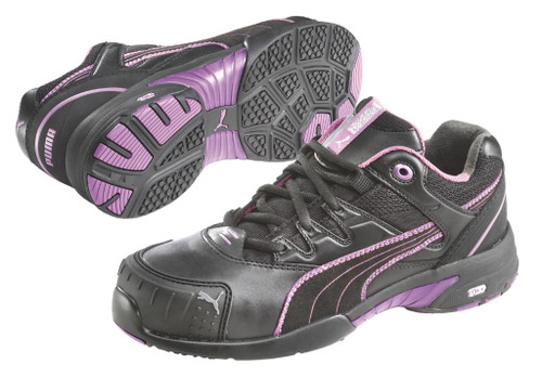 Puma Miss Safety 642887 with Steel Toe Cap Purple
