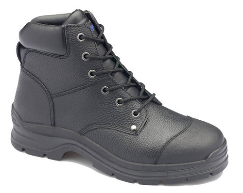 Blundstone 313 Black Rambler Print Waxy leather lace up Steel Cap safety boots With Bump Guard