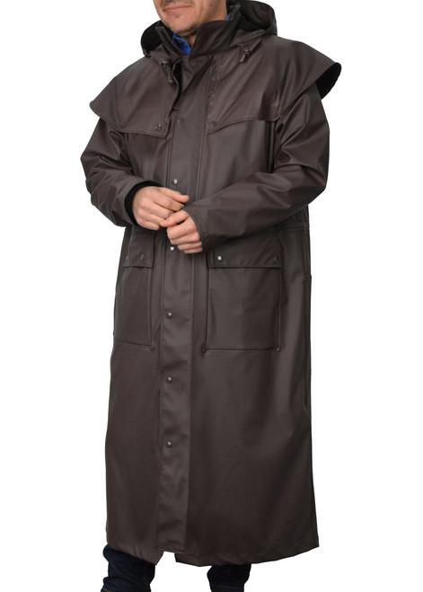 Thomas Cook Adults Unisex Pioneer Long Raincoat Dark Brown (TCP1711041 Brown)