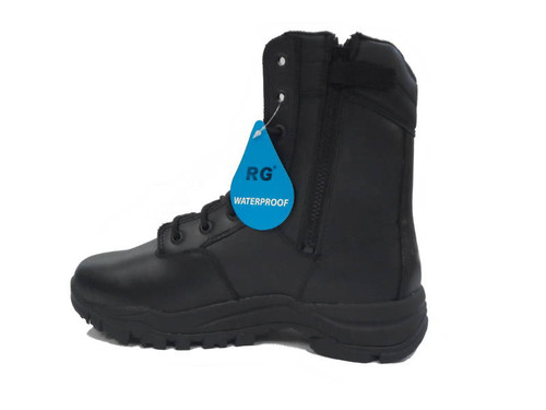 RG 1062 Waterproof Zip Sided Leather Tactical Boots Black