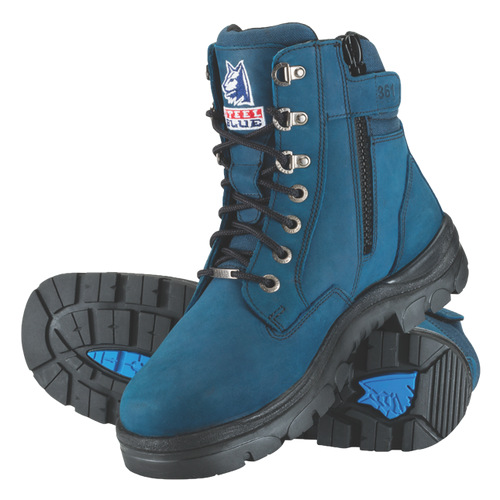 6f8849271a8 Steel Blue Southern Cross Zip Ladies Boots in Blue with Steel Cap ...