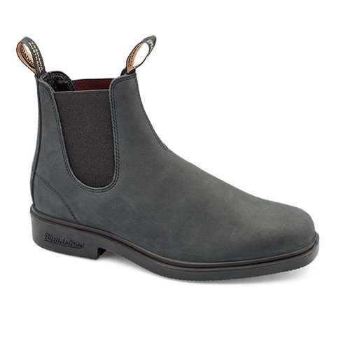 Blundstone 1308 Rustic Black Leather Lined Leather Dress Boots