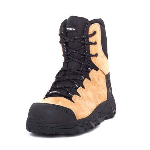 Mack Boots Terrapro Zip Composite Toe Lace Up Zip Sided Work Boots Honey