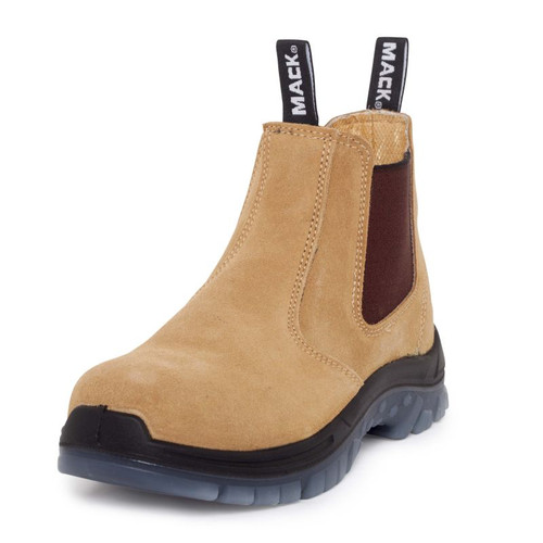 Mack Boots Chippy Pen Steel Toe Water and Penetration Resistant Work Boots in Honey