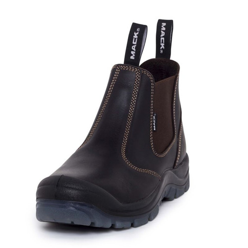 Mack Boots Boost Water Resistant Pull On Leather work Boots in Claret