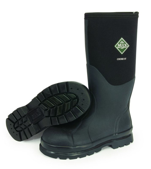 Muck Boots Chore Steel Toe Cap Insulated Waterproof Boots with Steel Shank